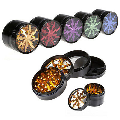 4 Piece 2.5 Inch Tobacco Herb Grinder Spice Aluminum With Scoop