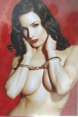 "J 12A  Dita Von Teese  6""x 4"" Mint Photo"