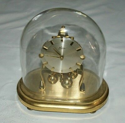 1950's KERN (Germany) Mantel/Anniversary Clock With Glass Dome, Spares Or Repair