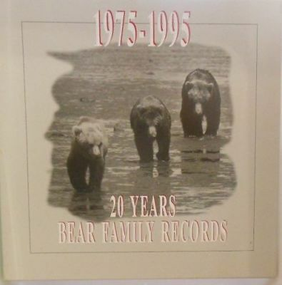 20 Years Bear Family Records 1975-1995 RARE 4 CD BOX mit Buch