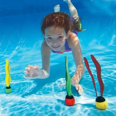 3* Underwater Dive Balls Swimming Pool Weighted Play Sticks Toys Games Water