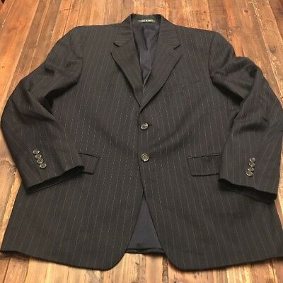 Lauren Ralph Lauren 42R Blue striped mens blazer Wool 2-button front