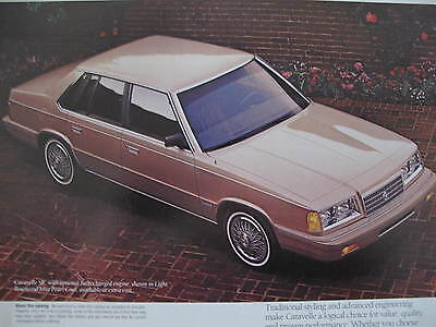1988 Plymouth Caravelle Sales Brochure C5929