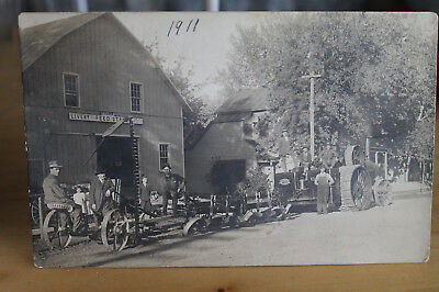 Vintage 1911 Case Steam Tractor Mazomanie WI Hamm Livery RPPC Real Photo Scene