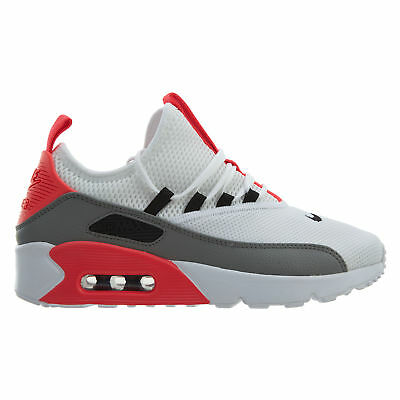 size 40 7157c aa19b Nike Air Max 90 EZ Womens AO1520-101 White Dust Solar Red Running Shoes Size