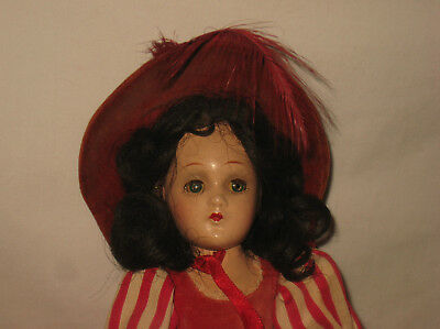 "1930's Madame Alexander 11"" Composition Scarlett O'hara Doll W/Orig. Outfit  MC1"