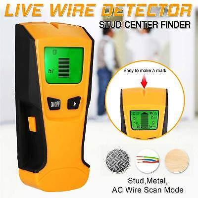 3in1 Metal Detector Stud Center Scanner Finder Wall AC Live Cable Wire Tester UK