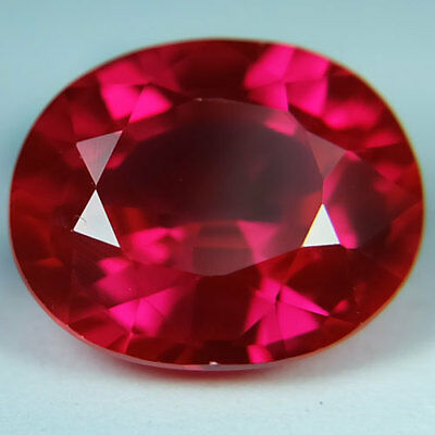7.80ct.AWESOME BLOOD RED RUBY OVAL LOOSE GEMSTONE