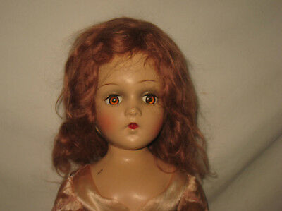 "1930's-40's Madame Alexander 21"" Composition Wendy Face Doll In Tagged Dress MC5"
