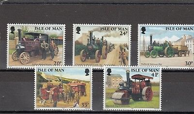 Isle Of Man - Sg629-633 Mnh 1995 Steam Traction Engines