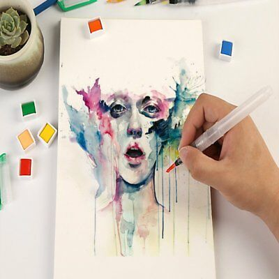 Creative Stationery Water Brush Pen Tip Watercolor Brushes Ink Filled Pens TU