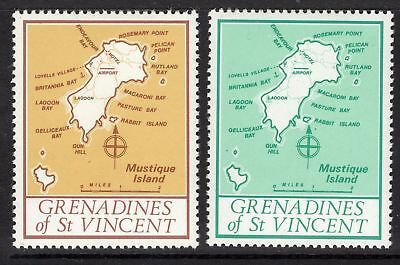 Grenadines Of St.vincent 1977 Unissued Map Stamps With Spiral Ca Wmk Mnh