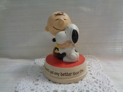 "Hallmark Peanuts Figurine - ""Life Doesn't Get Any Better Than This"""