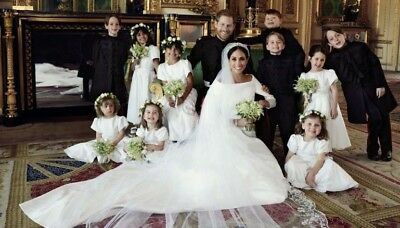 "Prince Harry And Meghan Markle Wedding Party (Kids) Pic Fridge Magnet 5"" X 3.5"""