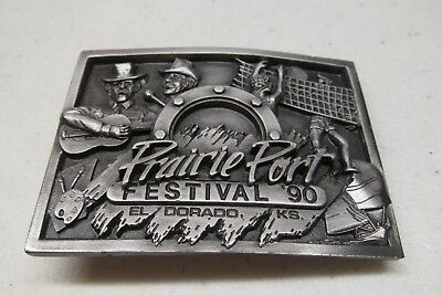 Limited Edition Prairie Port Festival 1990 Belt Buckle