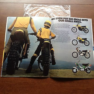 Vintage Yamaha YZ Motorcycle Brochure Catalog '80s XS Eleven 26 pages Fold-Out
