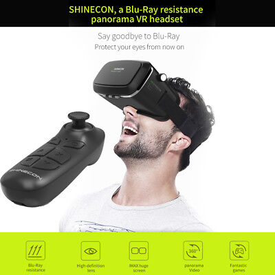 Virtual Reality VR SHINECON 3D IMAX Glasses+Wireless Bluetooth Gamepad DE Neu