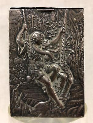 Stunning Art Nouveau Silver Travelling Playing Card Case by Henry Matthews 1899