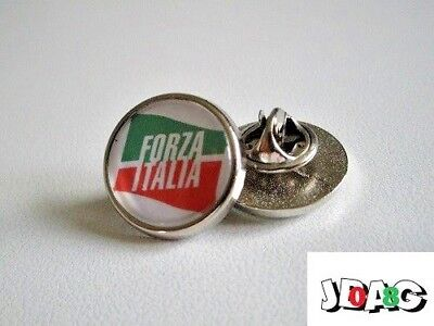 Pins Pin's Badge Forza Italia Italie - Finition Argent Ou Or