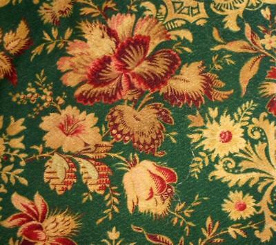 BEAUTIFUL 19th CENTURY FRENCH LINEN INDIENNE CRETONNE, PROJECTS REF