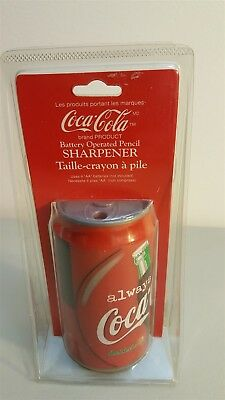 Coca Cola Coke 1997 Battery Operated PENCIL SHARPENER Can Shape New In Packaging
