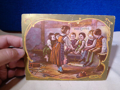 ANTIQUE VICTORIAN COFFEE TRADE CARD  **McLaughlins Coffee**