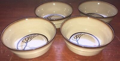 Denby Savoy Fruit Saucers / Dessert Bowls Set Of Four (A)