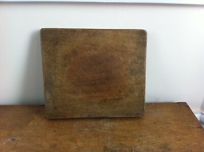 LARGE DECORATIVE ANTIQUE CHOPPING /  BREAD BOARD 12 by 10.5  inches
