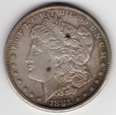 1881 S Us Morgan Silver Dollar United States America Nice Coin