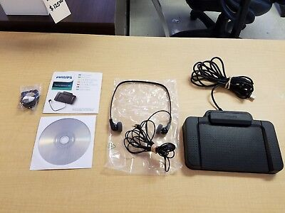 Philips SpeechExec Transcribe V8.8B880 with LFH 334 earphones & ACC2330/00 Foot