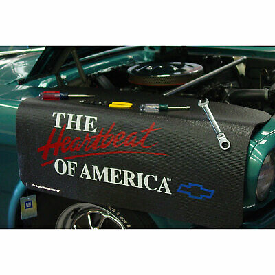 "Chevrolet Heartbeat of America Fender Grip Cover 22"" x 34"" non-slip material"