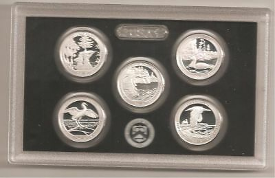 2018 Silver Proof Quarters From Proof Set With COA/ No Box