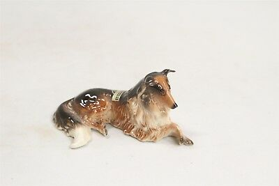 1953 Hagen Renaker Bonnie the Collie Laying Down Pottery Dog Figurine