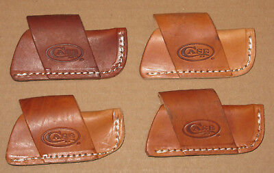 lot of 4 small leather Case XX folding pocket knife sheaths only