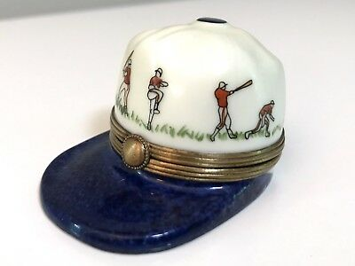Limoges Baseball Hat Box - G. Ribierre