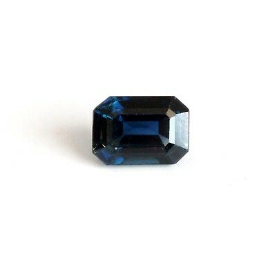 GIA Certified Octagonal Blue Sapphire Loose Gemstone 1.36 cts NO HEAT (A1277)