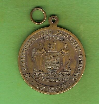 #d392. 1937 Victoria  Coronation Of King George Vi  Medal