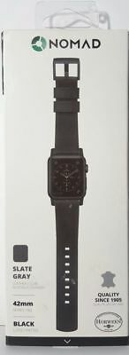 Nomad - Modern Leather Watch Strap for Apple Watch 42mm Black OPEN BOX