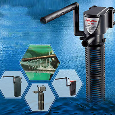 3in1 Aquarium Internal Filter Oxygen Submersible Water Pump For Fish Tank Pond A