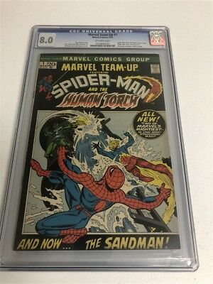 Marvel Team-Up #1 Cgc 8.0 Off-White Pages Human Torch
