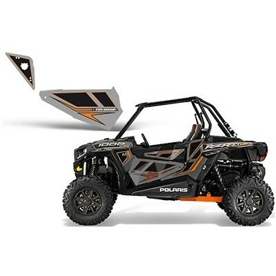 Pro Armor Titanium Orange Door Panel Graphics for Polaris RZR XP 1000 P141210TO
