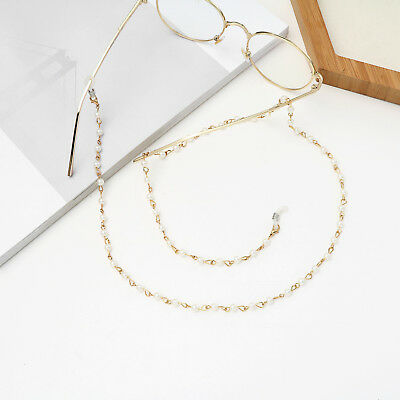 Shiny pearl gold Eyeglass Cord Reading Glasses Eyewear Spectacles Chain Holder