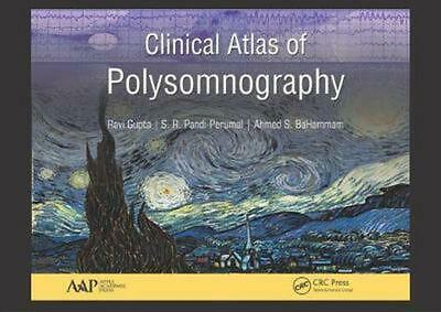 Clinical Atlas of Polysomnography by Ravi Gupta Hardcover Book Free Shipping!
