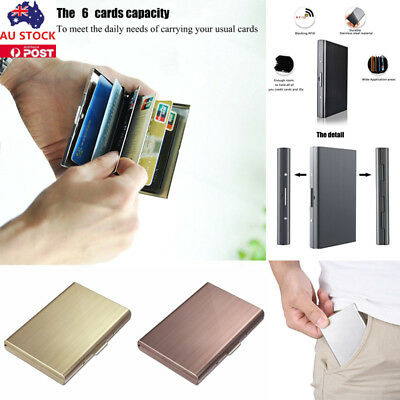 Anti Scan Leather Credit Card Holder Money Cash Wallet Clip RFID Blocking Purse
