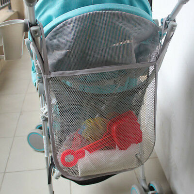 Portable Pushchair Buggy Pram Stroller Hanging Mesh Net Bag Storage Organiser S1