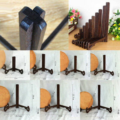 Wood Plate Stand Display Easel Holder Table Desk Stand for China Photo Paint