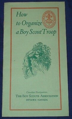 BG251 Vtg How to Organize a Boy Scouts Troop Brochure 1950