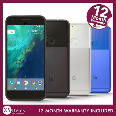 Google Pixel G-2PW4200 32/128GB Mobile Smartphone Black/Silver/Blue Unlocked/EE