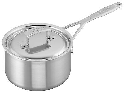 Zwilling Demeyere Industry 5-Ply 2-qt Stainless Steel Saucepan 48418-48518 NEW