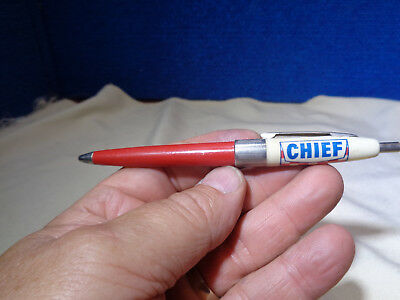 Vintage Advertising 1950's Chief Gas Oil Pen